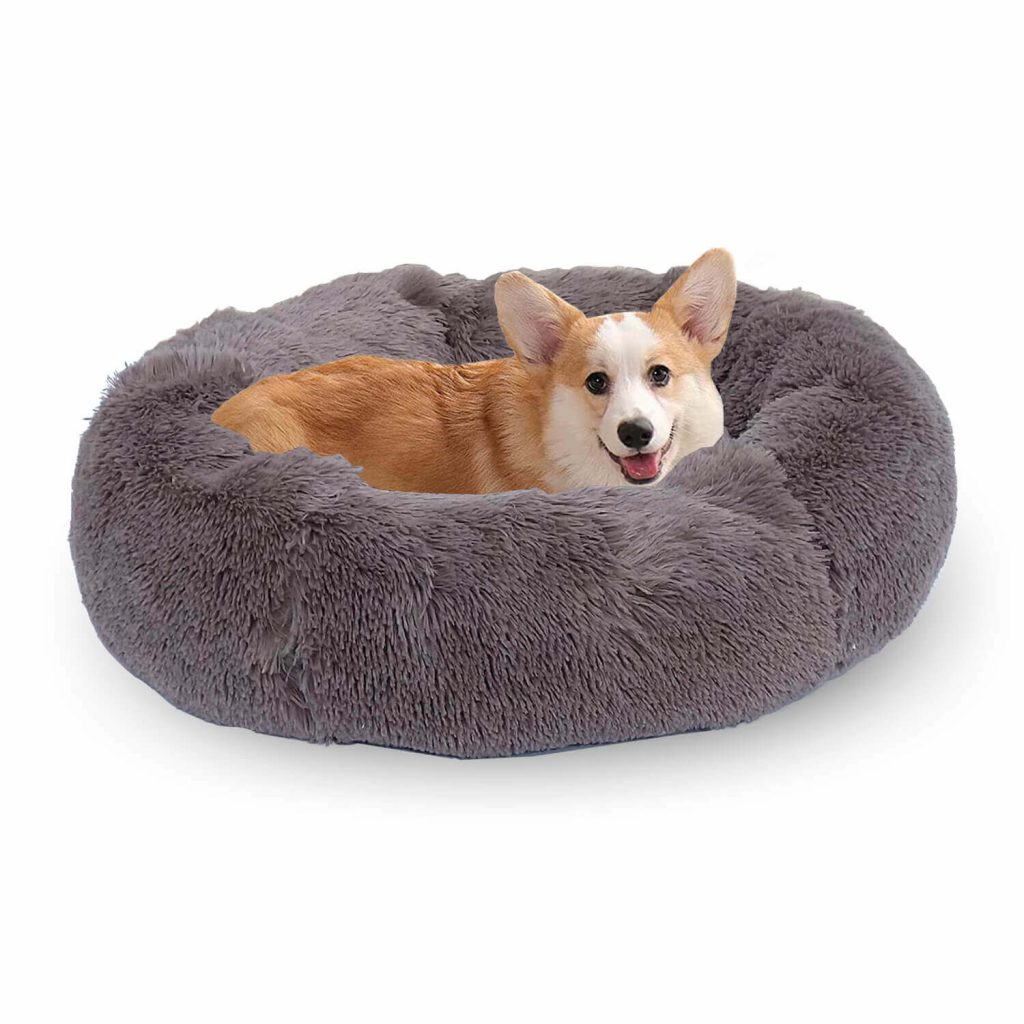 cama para perro redonda relajante